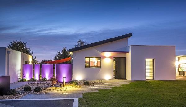 Maison monopente et toit plat