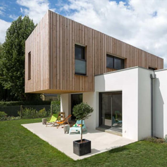 la bocaine maison contemporaine la roche sur yon vendée constructeur maison à étage